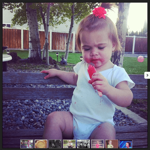 Eva devoured a popsicle on Mother's Day and freaked out when it was gone.