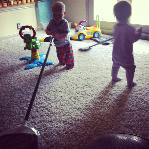 Cohen and Eva loveeeee sweeping.