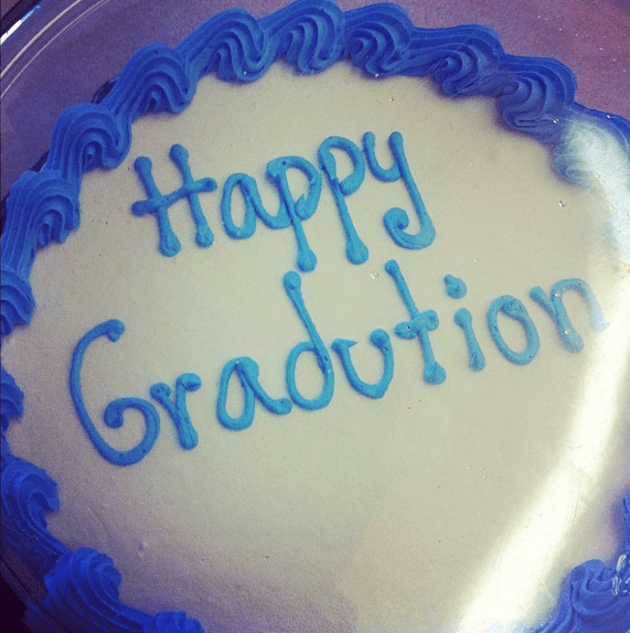"I told Dairy Queen to put, ""Happy Graduation, TJ!"" on his cake. This is what I got instead."