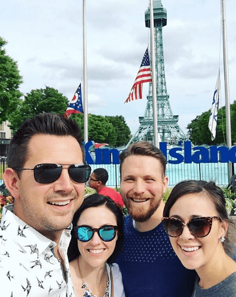 We went to Kings Island with my brother and his wife